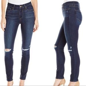 Paige Hoxton Dark Wash Lightly Distressed Jeans 29